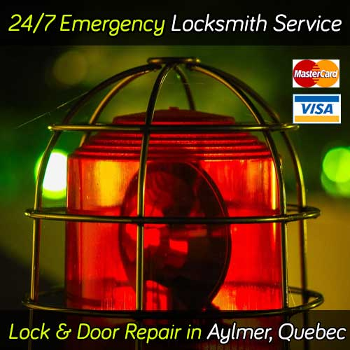 24 Hour emergency locksmith service in Aylmer Quebec