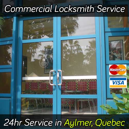 Commercial locksmith service in Aylmer Quebec
